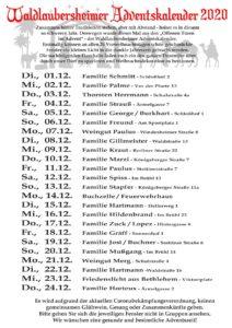 Waldlaubersheimer Adventskalender